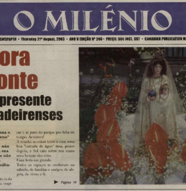O MILENIO: 2003/08/21 Issue 246