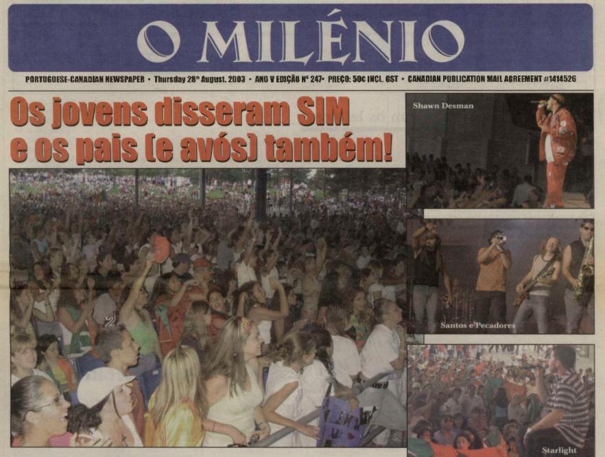 O MILENIO: 2003/08/28 Issue 247