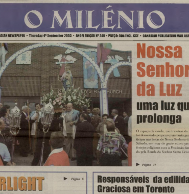 O MILENIO: 2003/09/04 Issue 248