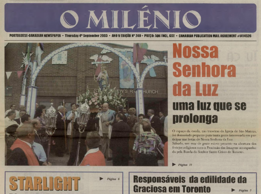 O MILENIO: 2003/09/04 Issue 248