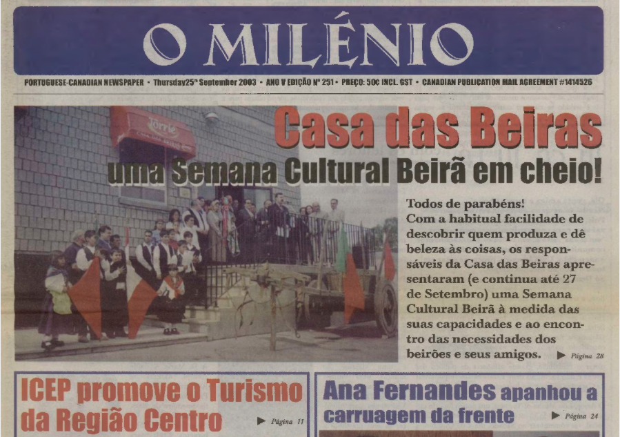 O MILENIO: 2003/09/25 Issue 251