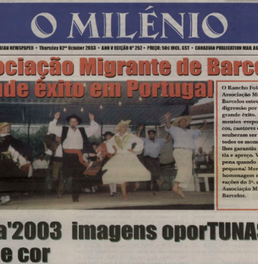 O MILENIO: 2003/10/02 Issue 252