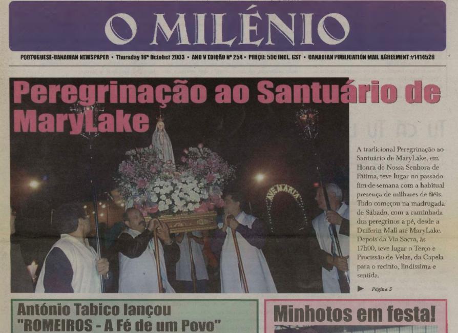 O MILENIO: 2003/10/16 Issue 254