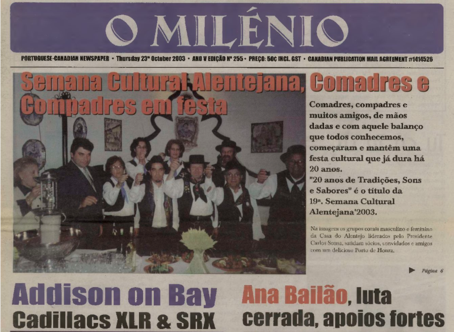 O MILENIO: 2003/10/23 Issue 255