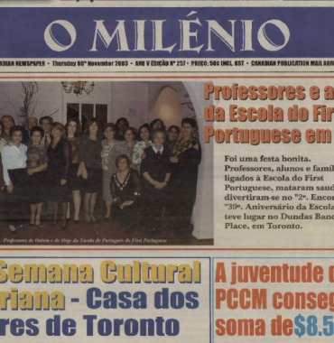 O MILENIO: 2003/11/06 Issue 257