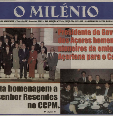 O MILENIO: 2003/11/20 Issue 259