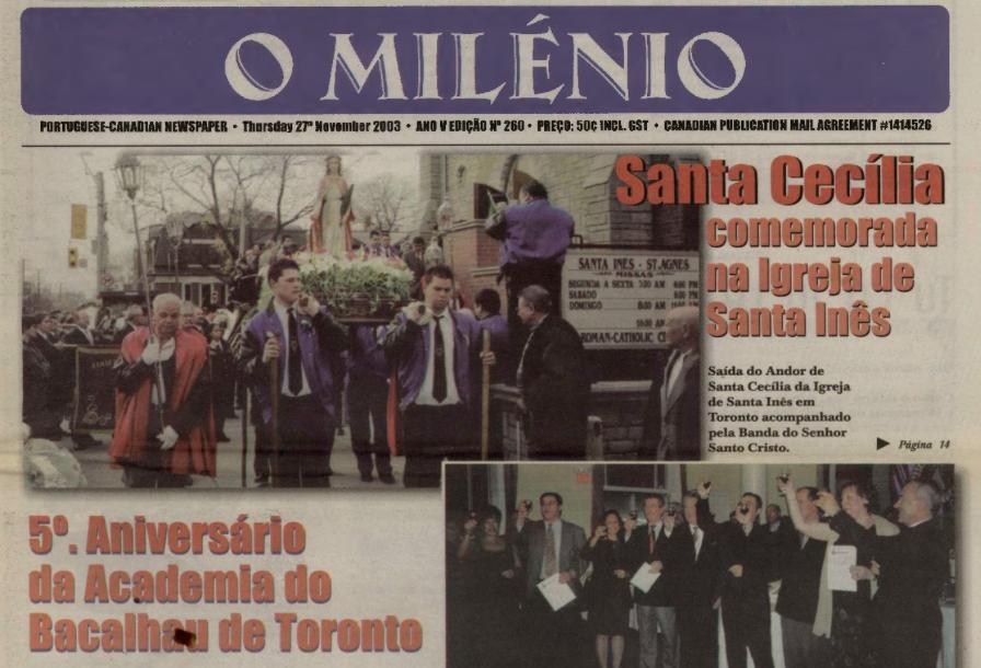 O MILENIO: 2003/11/27 Issue 260