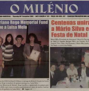 O MILENIO: 2003/12/04 Issue 261