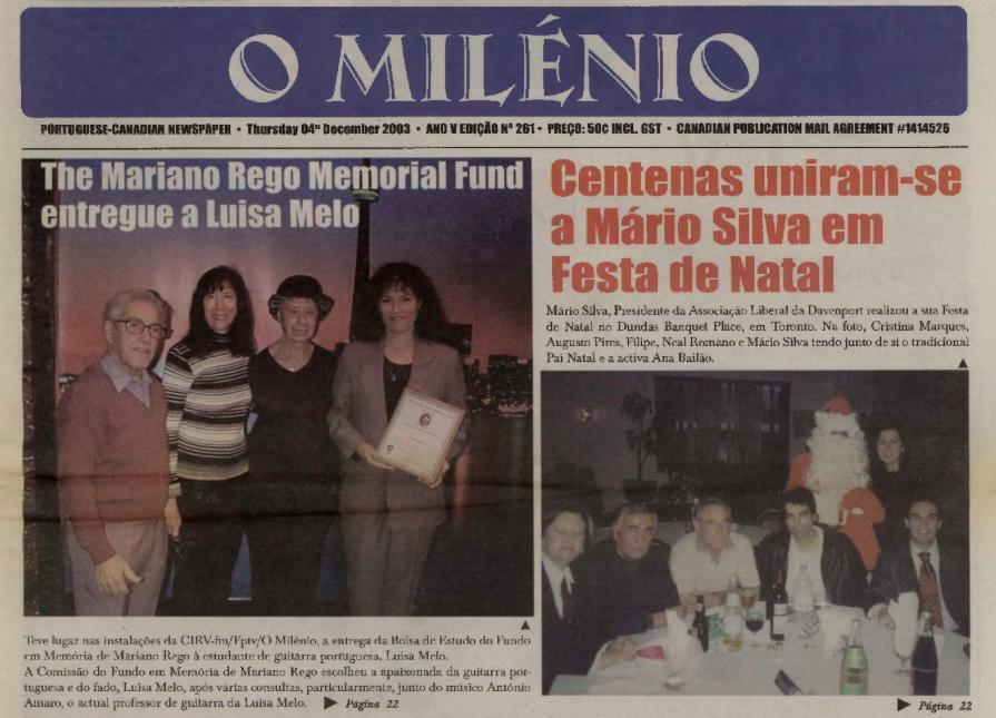 O MILENIO: 2003/12/04 Issue 261