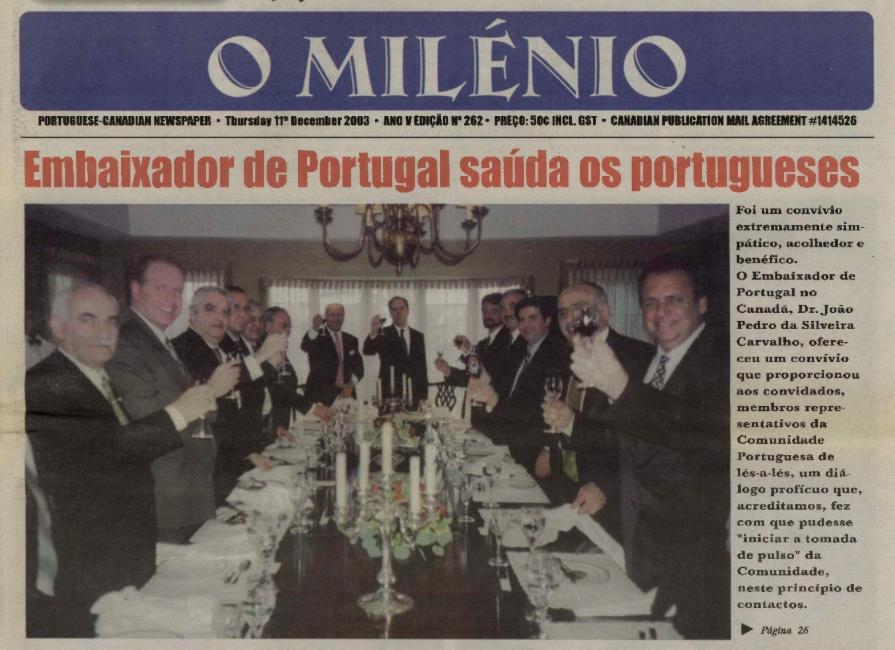 O MILENIO: 2003/12/11 Issue 262