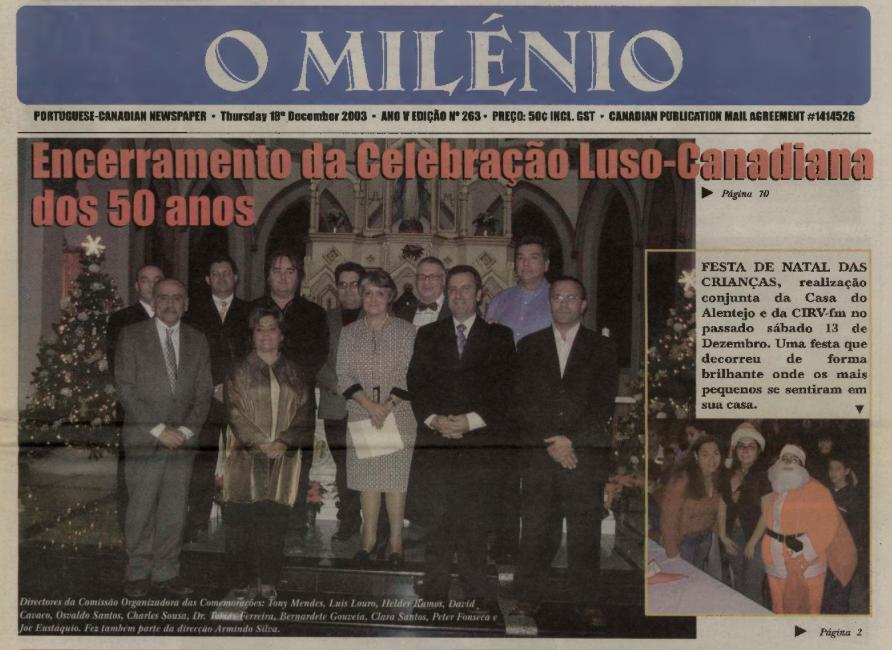 O MILENIO: 2003/12/18 Issue 263