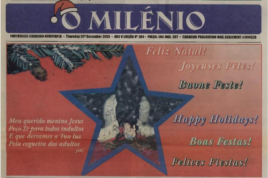 O MILENIO: 2003/12/25 Issue 264