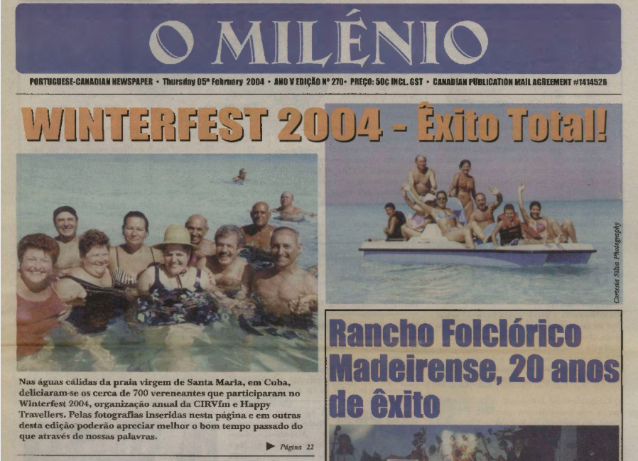 O MILENIO: 2004/02/05 Issue 270