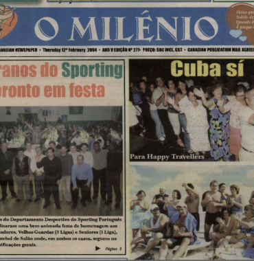 O MILENIO: 2004/02/12 Issue 271