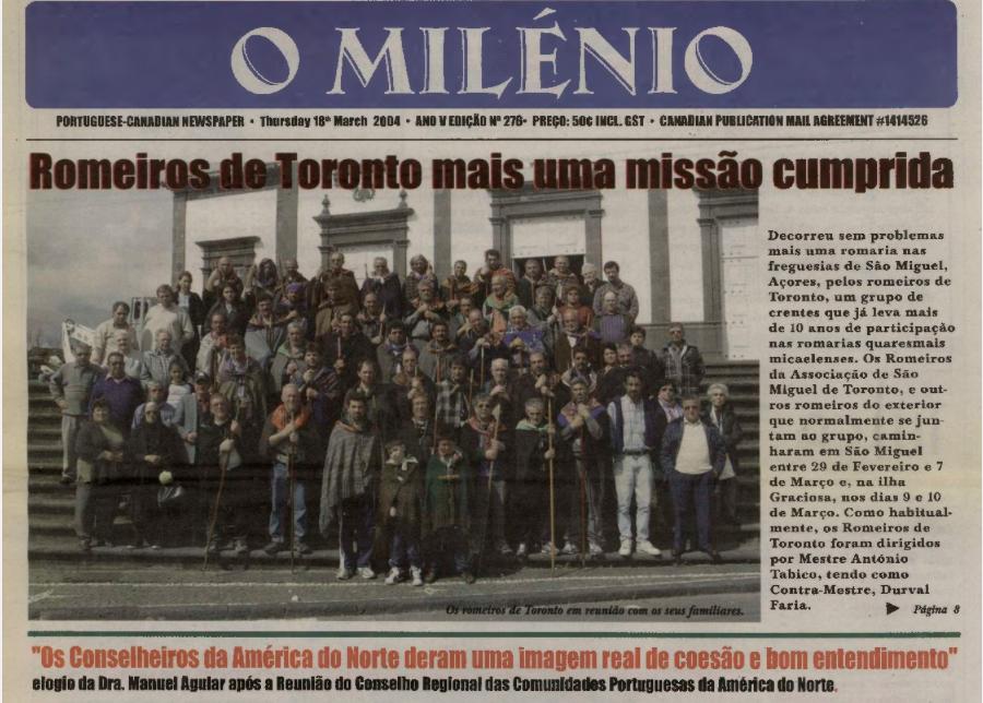 O MILENIO: 2004/03/18 Issue 276