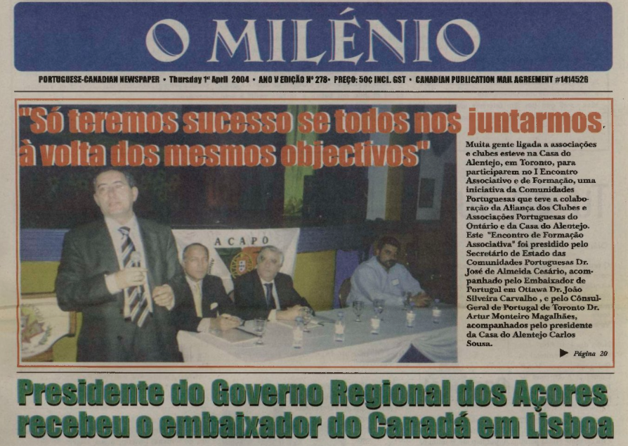 O MILENIO: 2004/04/01 Issue 278