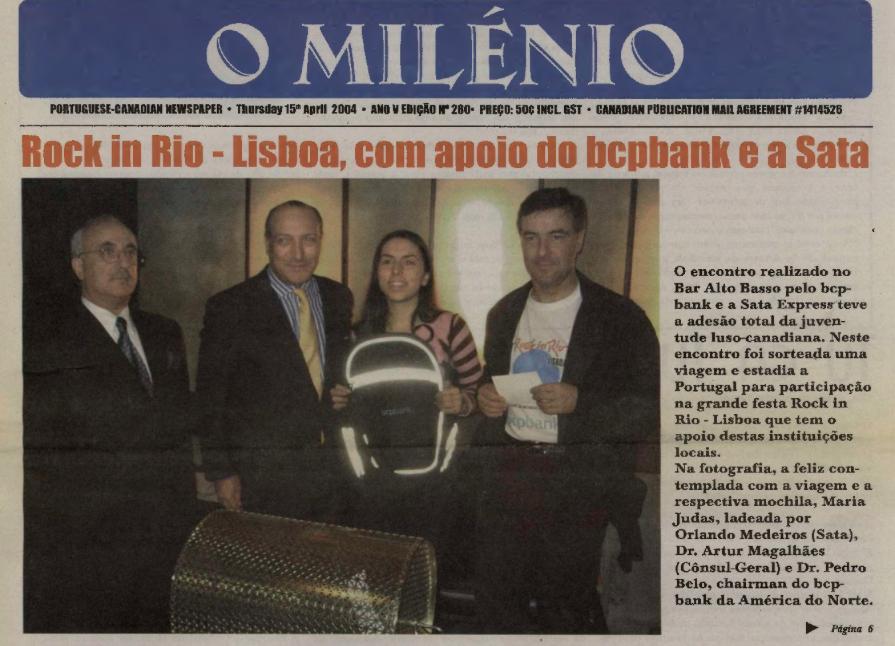 O MILENIO: 2004/04/15 Issue 280
