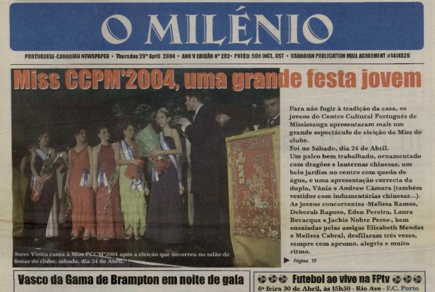 O MILENIO: 2004/04/29 Issue 282