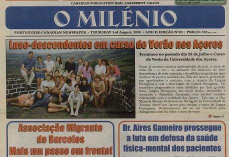 O MILENIO: 2000/08/03 Issue 90