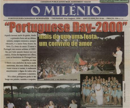 O MILENIO: 2000/08/31 Issue 94