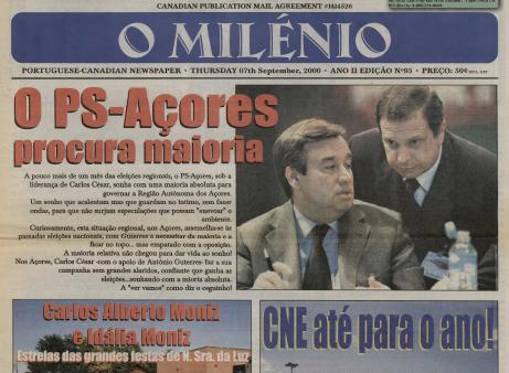 O MILENIO: 2000/09/07 Issue 95