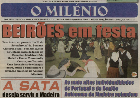 O MILENIO: 2000/09/28 Issue 98
