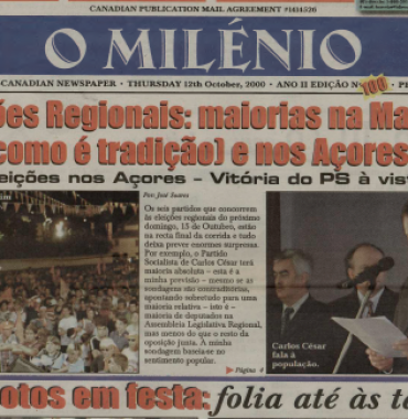 O MILENIO: 2000/10/12 Issue 100