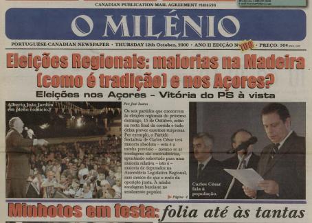 O MILENIO: 2000/10/12 Issue 100