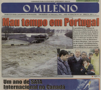 O MILENIO: 2001/02/01 Issue 116