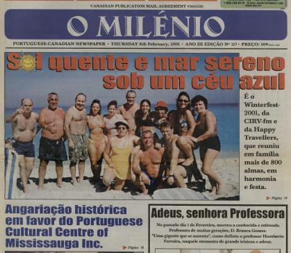 O MILENIO: 2001/02/08 Issue 117
