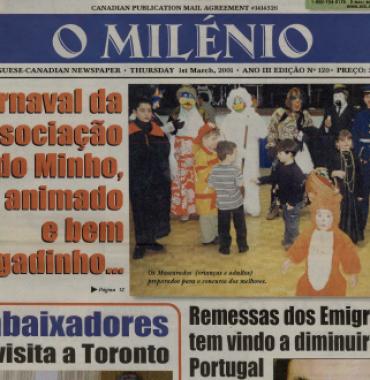 O MILENIO: 2001/03/01 Issue 120