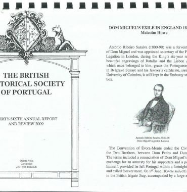THE BRITISH HISTORICAL SOCIETY OF PORTUGAL: 36th Annual Report & Review 2009