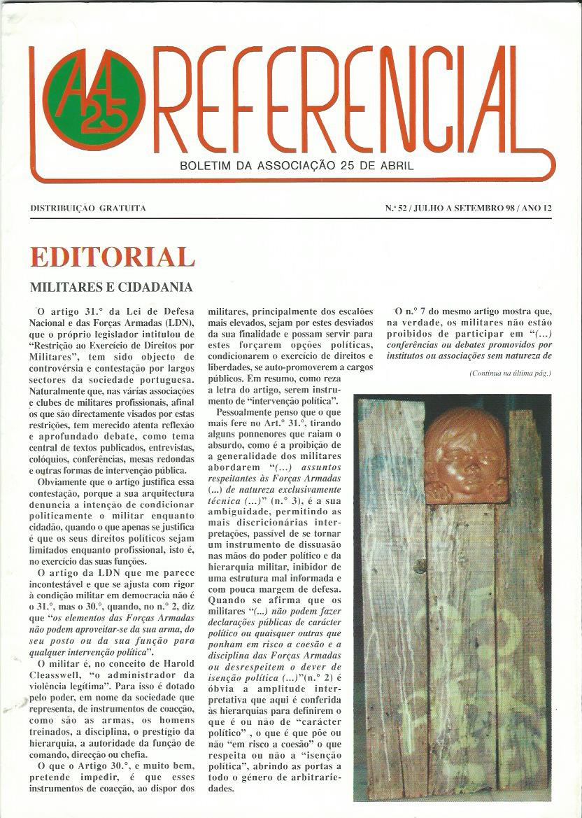 REFERENCIAL: July–September 1998 Issue 52