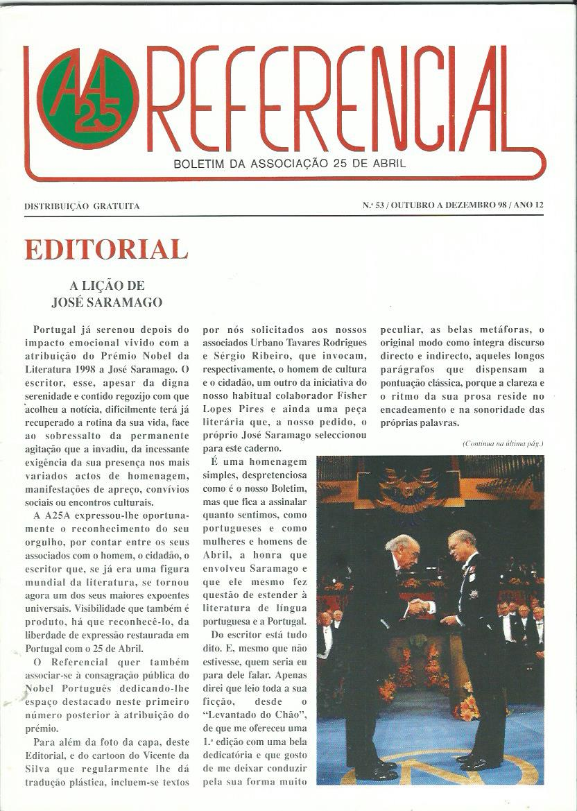 REFERENCIAL: October–December 1998 Issue 53