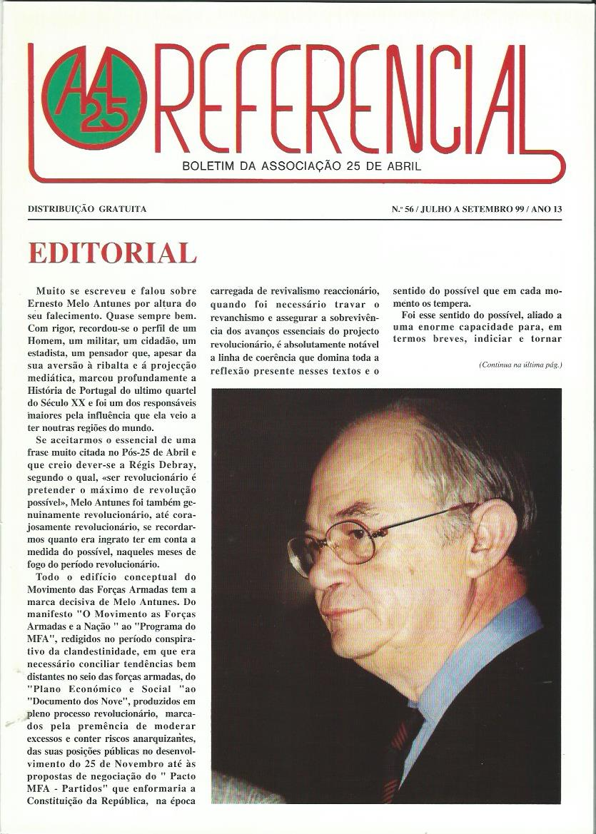 REFERENCIAL: July–September 1999 Issue 56