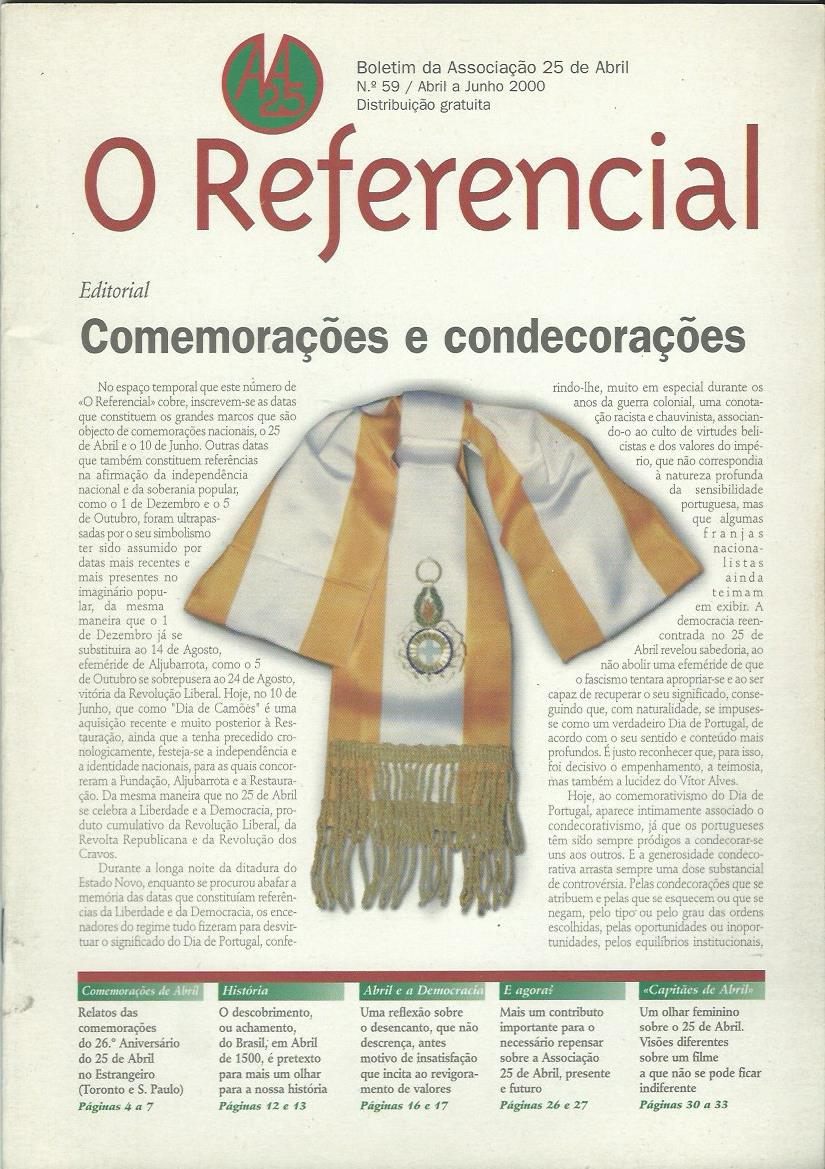 REFERENCIAL: April–June 2000 Issue 59
