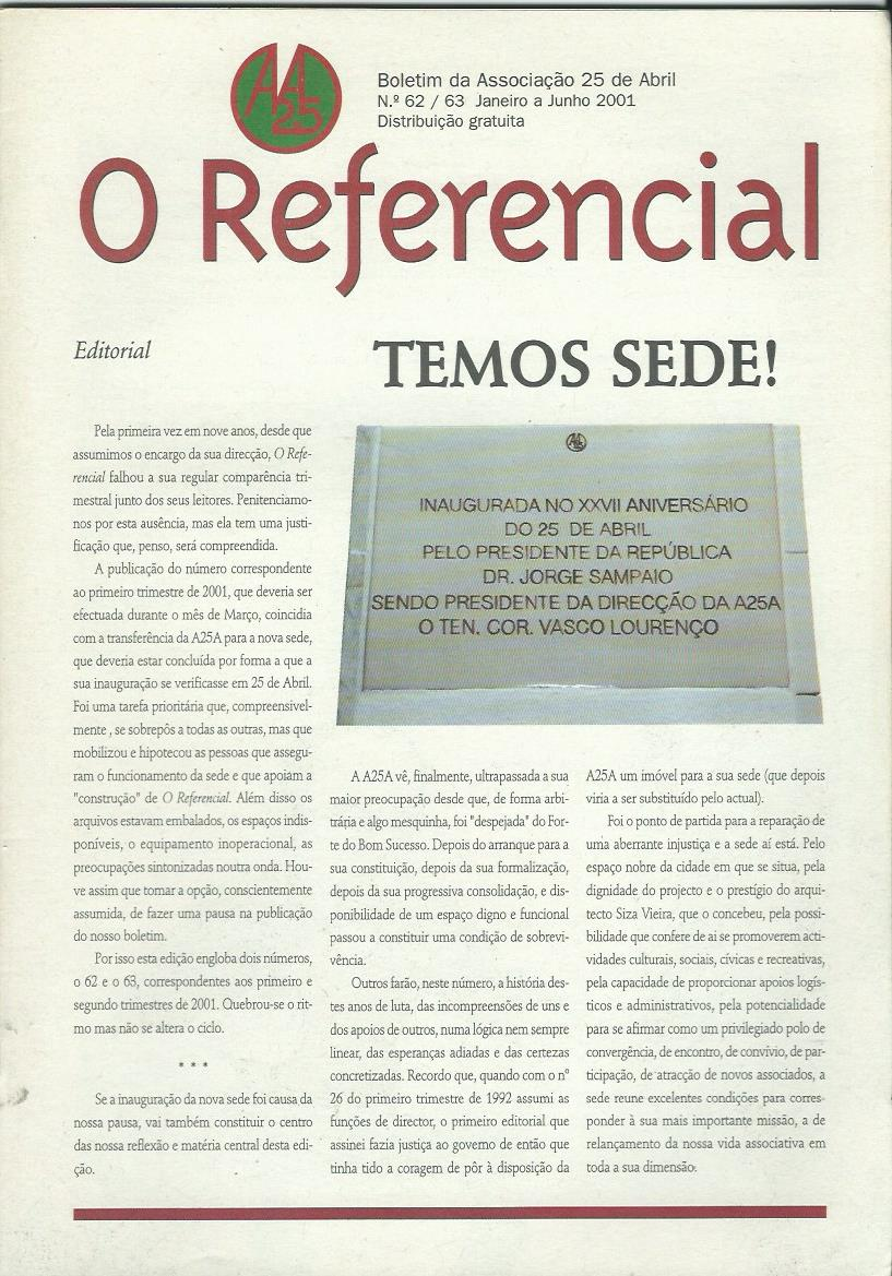 REFERENCIAL: January–June 2001 Issue 62-63