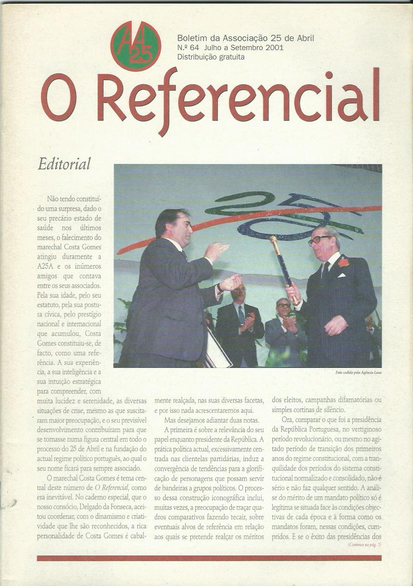 REFERENCIAL: July–September 2001 Issue 64