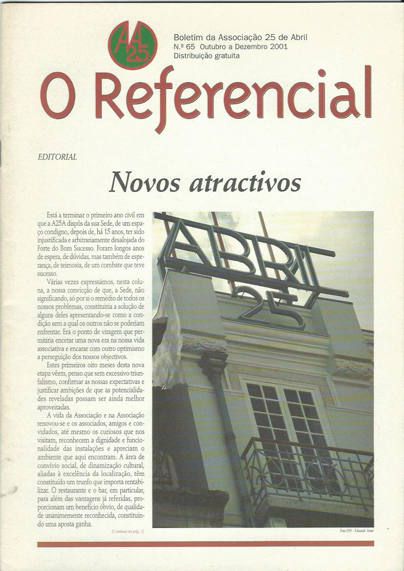 REFERENCIAL: October–December 2001 Issue 65