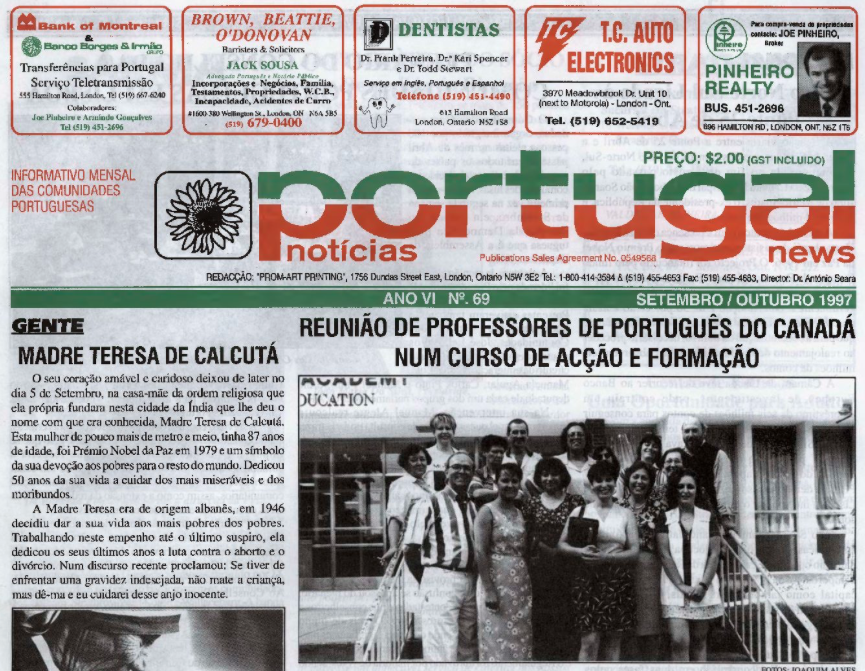 PORTUGAL NEWS: Sept–Oct 1997 Issue 69