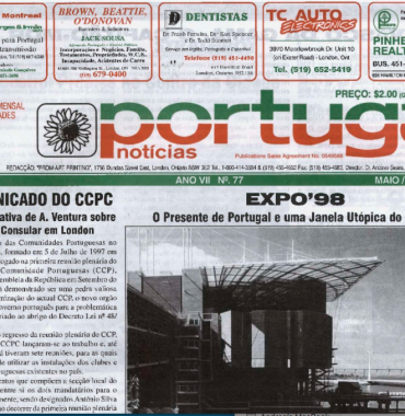 PORTUGAL NEWS: May–Jun 1998 Issue 77