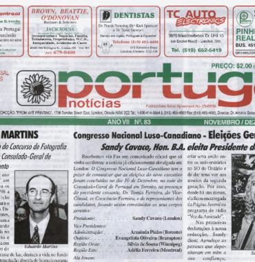 PORTUGAL NEWS: Nov–Dec 1998 Issue 83