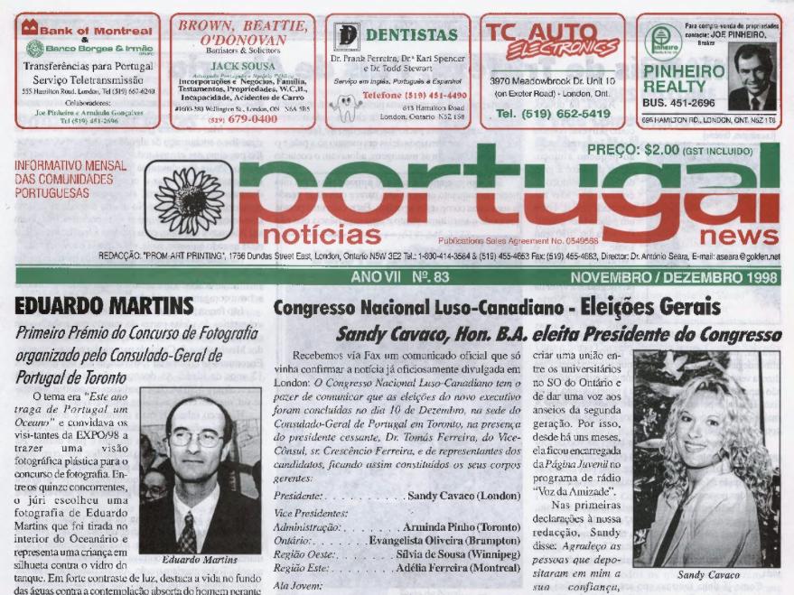 PORTUGAL NEWS: Nov–Dec 1998 Issue 83