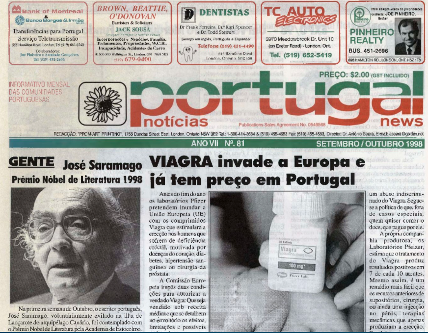 PORTUGAL NEWS: Sept–Oct 1998 Issue 81