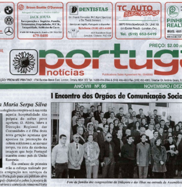 PORTUGAL NEWS: Nov–Dec 1999 Issue 95