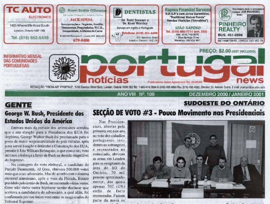 PORTUGAL NEWS: Dec–Jan 2000–1 Issue 108