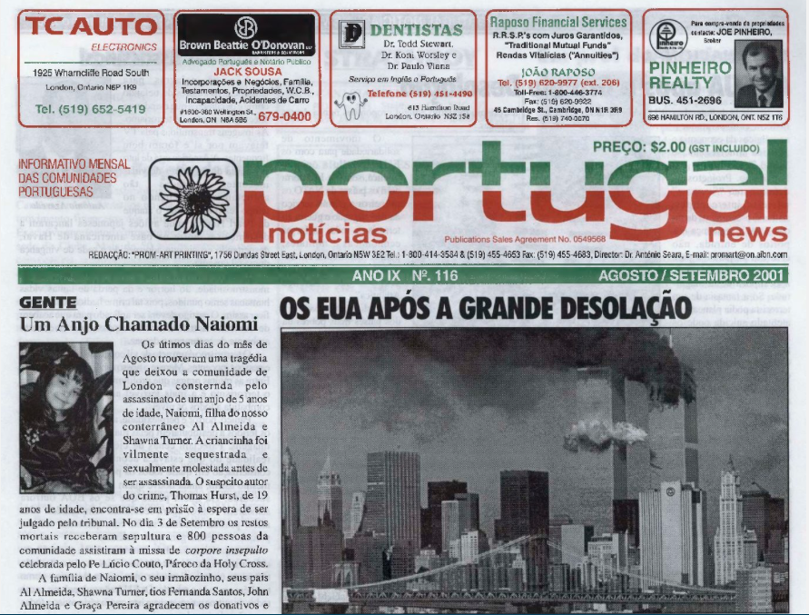 PORTUGAL NEWS: Aug–Sept 2001 Issue 116