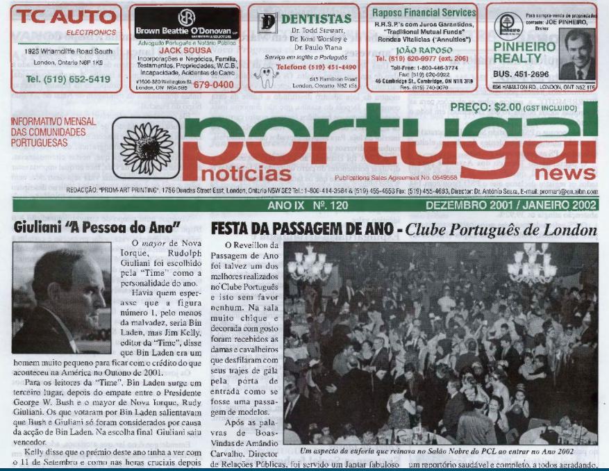 PORTUGAL NEWS: Dec–Jan 2001–2 Issue 120
