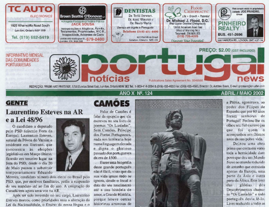 PORTUGAL NEWS: Apr–May 2002 Issue 124