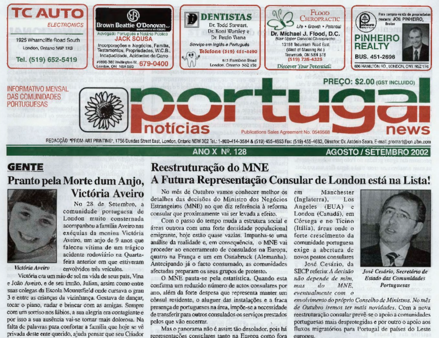 PORTUGAL NEWS: Aug–Sept 2002 Issue 128